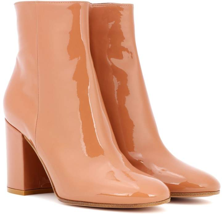 Gianvito Rossi Exclusive to mytheresa.com Rolling 85 patent leather ankle boots