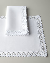 "Matouk Ricamo 90"" Round Tablecloth"