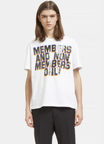 Stella Mccartney Men's Members And Non Members Print T-shirt In White