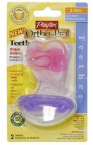 Playtex Two Baby Ortho-pro Pacifier Teethers 3-10 Months Girl (2 Packs)