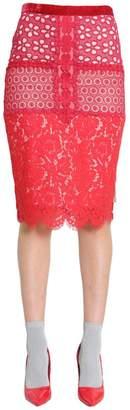 Moschino Waistband Lace Skirt