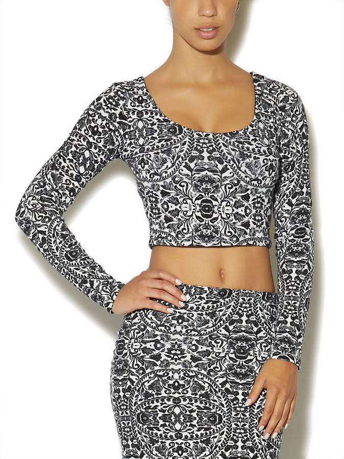 Arden B Mirrored Baroque Crop Top