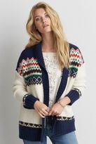 American Eagle Outfitters AE Patterned Pocket Cardigan