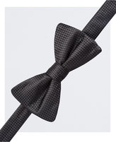Countess Mara Men's Black Tonal Dotted Pre-Tied Bow Tie and Pocket Square Set