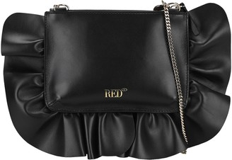 RED Valentino XL Rock Ruffles Clutch Bag