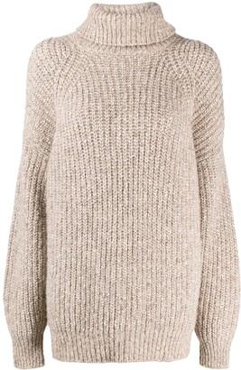 Etoile Isabel Marant Chunky Knit Roll-Neck Jumper