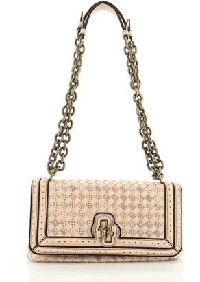 Bottega Veneta Olimpia Knot Flap Bag Intrecciato Nappa and Snakeskin Medium
