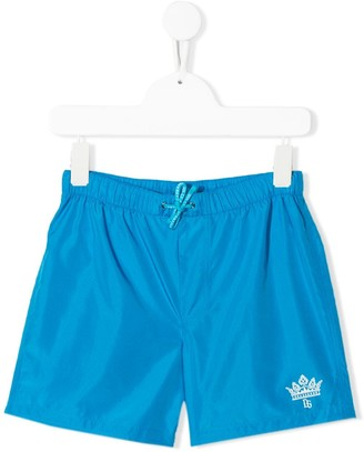 Dolce & Gabbana Logo Print Swimming Shorts