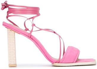 Jacquemus Strappy 110mm Square-Toe Sandals