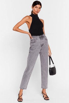 Nasty Gal Womens Acid Wash What You're Doing Mom Jeans - Blue - 4, Blue