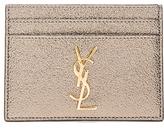 Saint Laurent Metallic Monogramme Credit Card Case