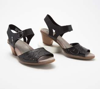 Earth Leather Two-Piece Heeled Sandals- Carson Westport