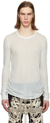 Rick Owens White Basic Long Sleeve T-Shirt