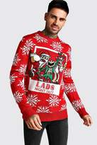 3D Lads Night Out Christmas Jumper