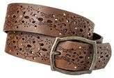 Mossimo Women's Laser Perforated Stud Belt - Brown