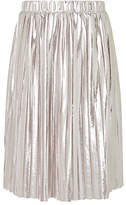 John Lewis Girls' Pleated Skirt, Silver