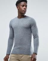 Selected Rib Crew Neck Sweater