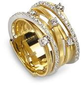 Marco Bicego 18K Yellow Gold Goa Seven Row Ring with Diamonds