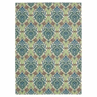 "Waverly Treasures ""Dress Up Damask"" Hand-Tufted Blue Jay Area Rug Rug Size: Rectangle 2'6"" x 4'"