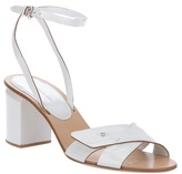 Cross button sandal