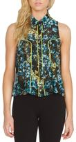 Sugar Lips Sugarlips Blue Floral Top