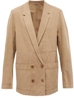 Lemaire Longline Double-breasted Denim Jacket - Camel