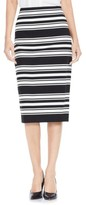 Vince Camuto Women's Stripe Ponte Pencil Skirt