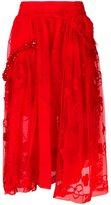 Simone Rocha high-rise lace full skirt - women - Polyamide/Polyester/Spandex/Elastane/Wool - 8