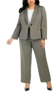 Le Suit Plus Size Shawl-Lapel Pants Suit