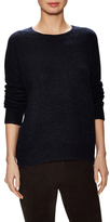Vince Wool Ribbed Dropped Shoulder Sweater