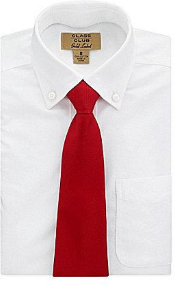 """Class Club 12"""" Adjustable Zip Solid Red Tie"""