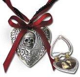 Alchemy Gothic Reliquary Heart Locket Pendant w/ Necklace