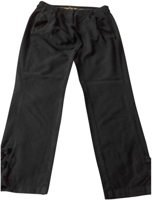 Sessun Grey Cotton Trousers for Women