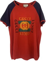 Gucci Red Cotton Tops