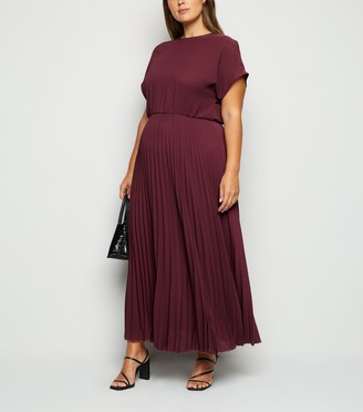 New Look Curves Pleated Maxi Dress