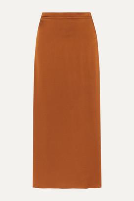Vanessa Bruno Marie Satin-crepe Midi Skirt - Light brown