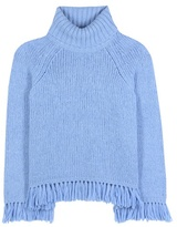 Tory Burch Jennifer Fringed Turtleneck Sweater