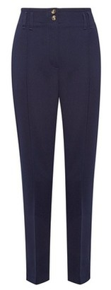 Dorothy Perkins Womens Navy Tapered Tailored Trousers