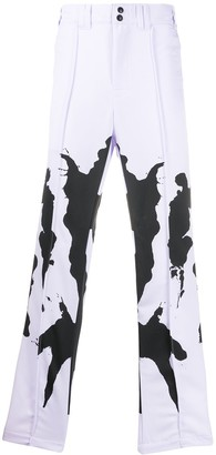 Youths in Balaclava Ink Blot straight-leg trousers
