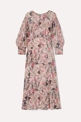 IRO Norma Floral-print Crepon Midi Dress - Pink