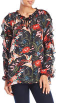 Jessica Simpson Floral Ruffle Top