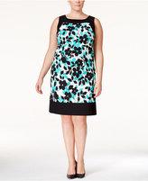 Jessica Howard Plus Size Sleeveless Printed Sheath Dress