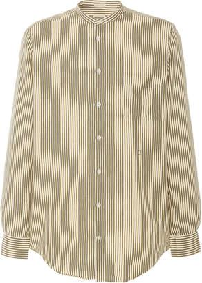 Massimo Alba Striped Cotton-Poplin Shirt Size: S