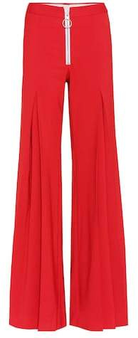 Off-White Central Pleat wool-blend trousers