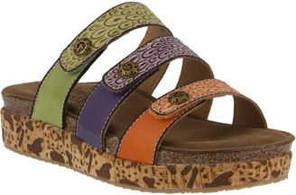 Spring Step L'Artiste by Leather Slide Sandals- Keena