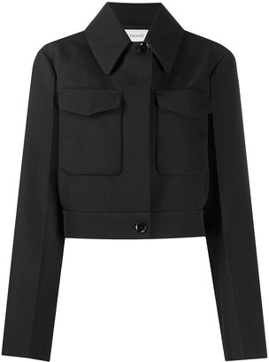 Lemaire Cropped Structured Wool Jacket