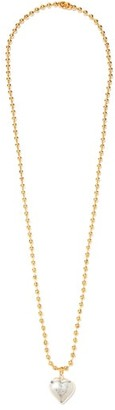 Timeless Pearly Heart Gold-plated Pendant Necklace - Silver Gold