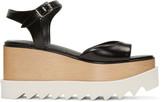 Stella McCartney Black Platform Elyse Sandals