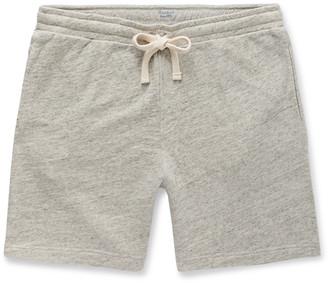 Hartford Melange Loopback Cotton-Jersey Drawstring Shorts