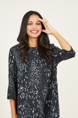 Yumi Grey Animal Tunic Top